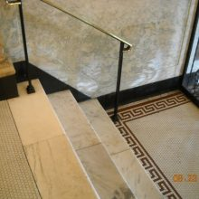 marble steps and mosaic floor conservation