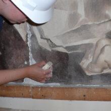 Dominican Frescos During Restoration