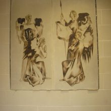 historic plaster conservation and remounting of frescos