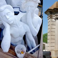 Ongoing maintenance of facades, outdoor sculptures, and art is a key element of any historic conservation program to prevent and deter deterioration.