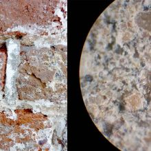 Historic mortar analysis by means of a petrographic microscopy determines the composition and guides selecting comparable modern mortars mixes for conservation treatments.