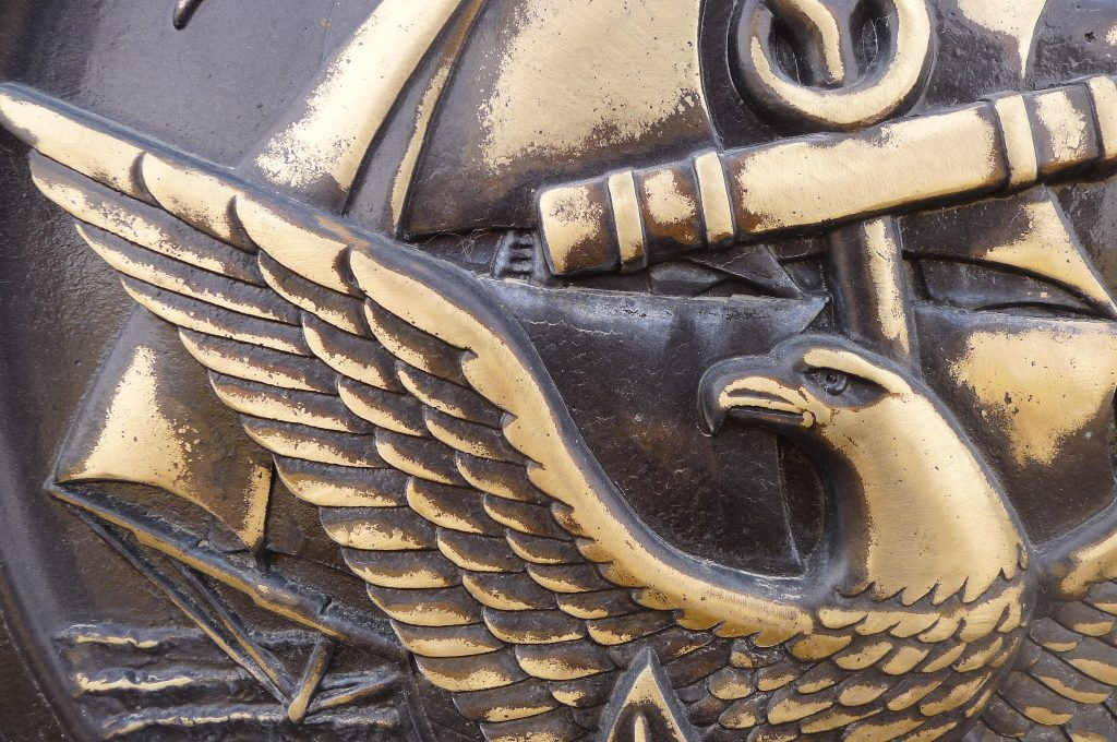 national cemeteries detail from seal