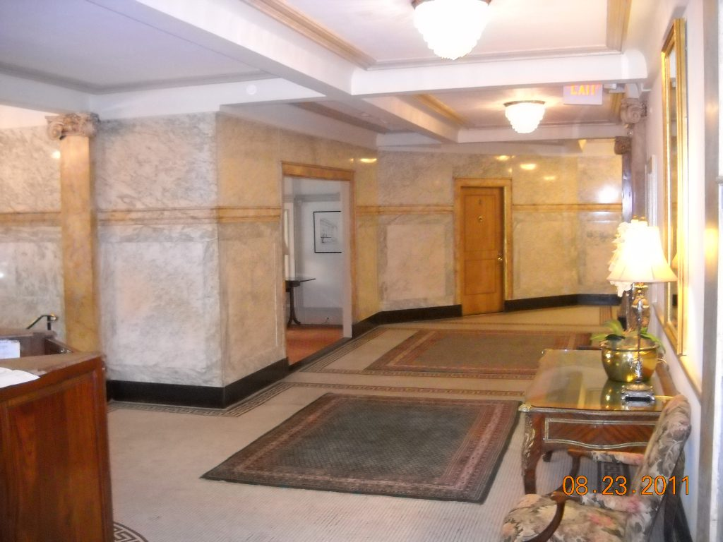 Marble and Scagliola in Lobby at Dresden Condominiums