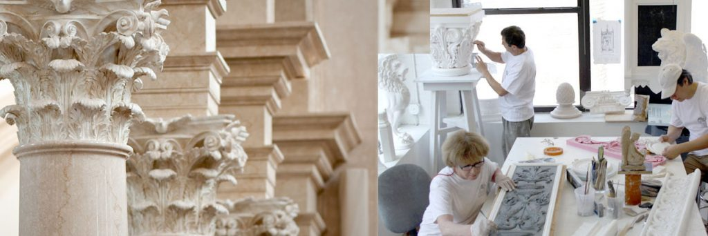 plaster capitals, and plaster-fabrication at our plaster studio