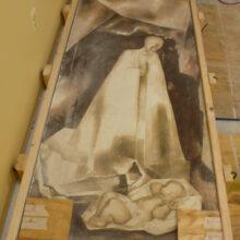 plaster fresco conservation madonna and child