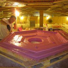 Ceiling plaster stabilization