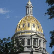 Colorado state capitol gilded dome after restorationnewly gilded ornamental plaster elements
