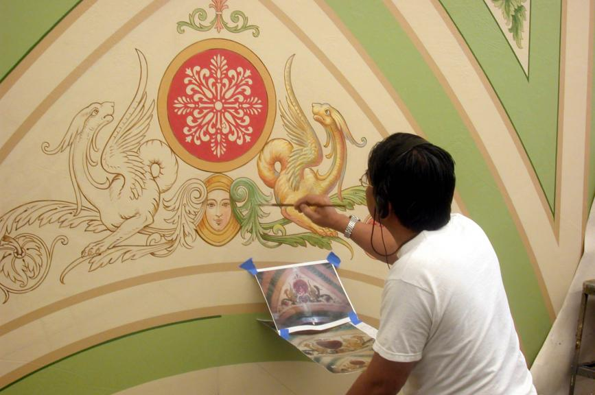 decorative painting on plaster