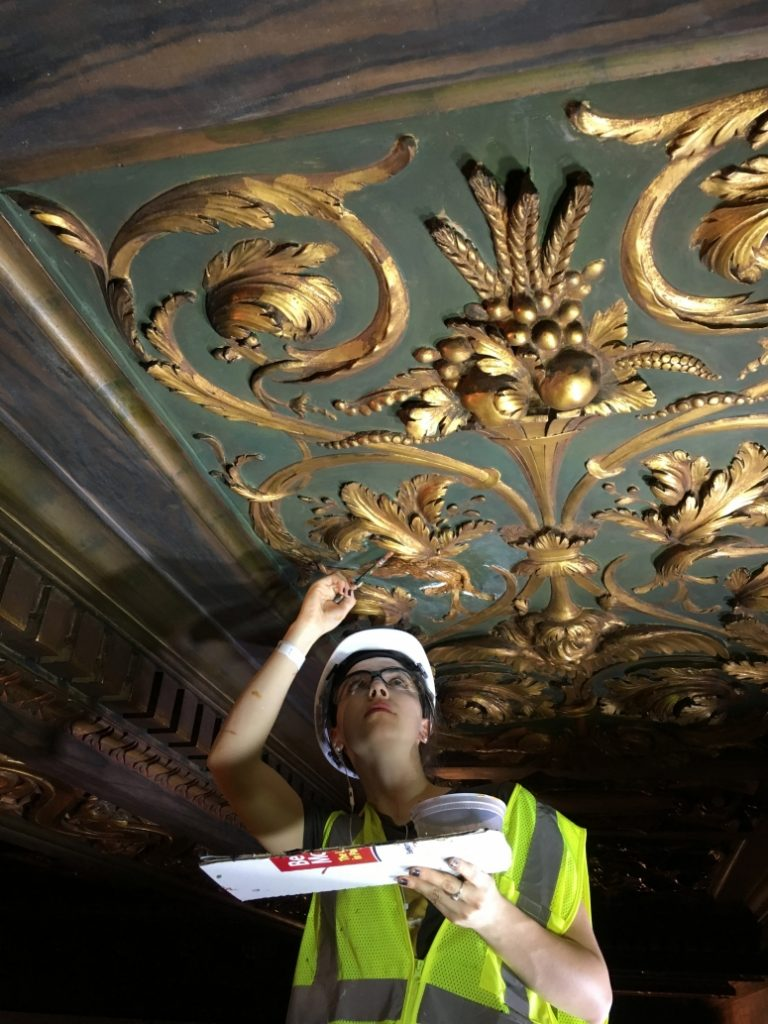 decorative plaster restoration at NYC Public Library