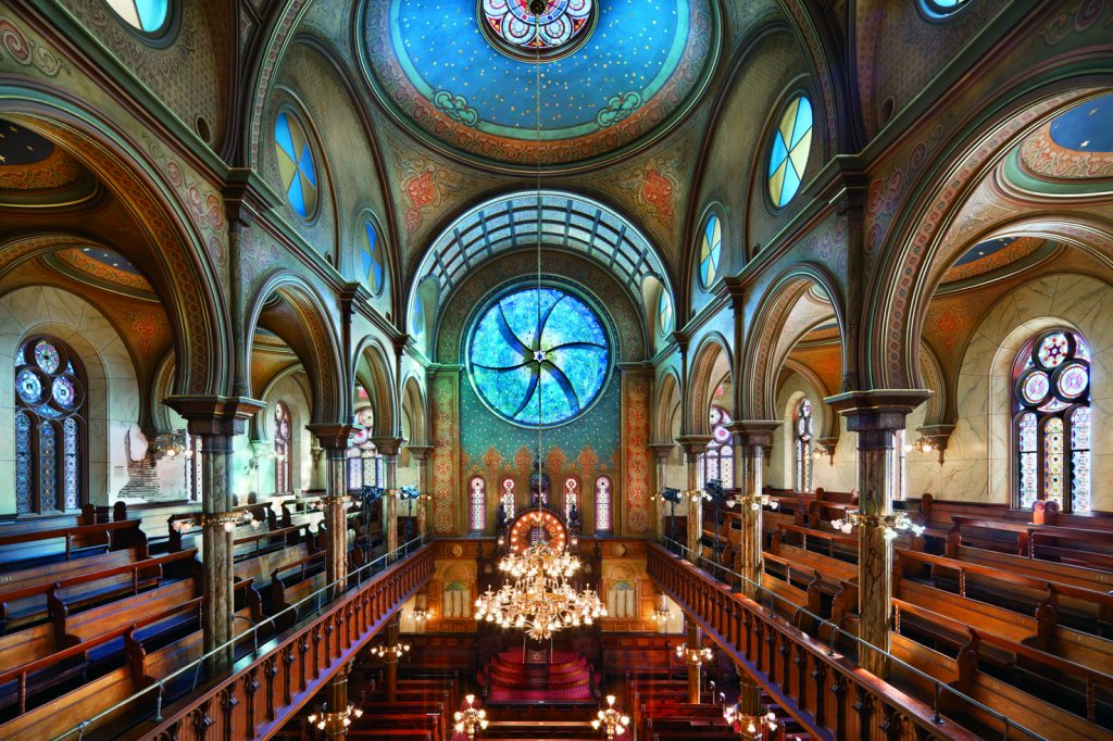 decorative plaster and finishes at Eldridge Synagogue