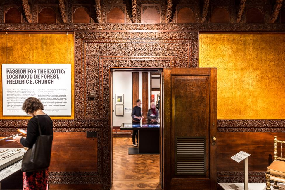 decorative woodwork restoration at cooper hewitt