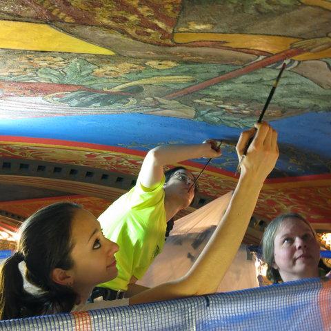 Verizon Vessey Barclay Ceiling Mural Restoration