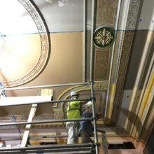 Enoch Pratt Library plaster ceiling restoration