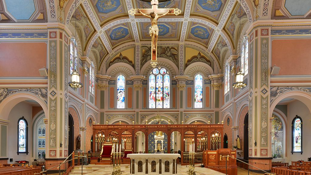 Interior of the Cathedral Of The Blessed Sacrament after restoration