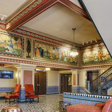 lobby murals after restoration