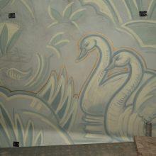 mural before restoration