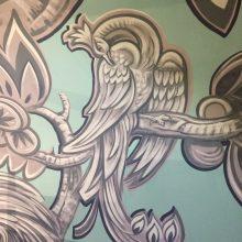 mural detail after restoration