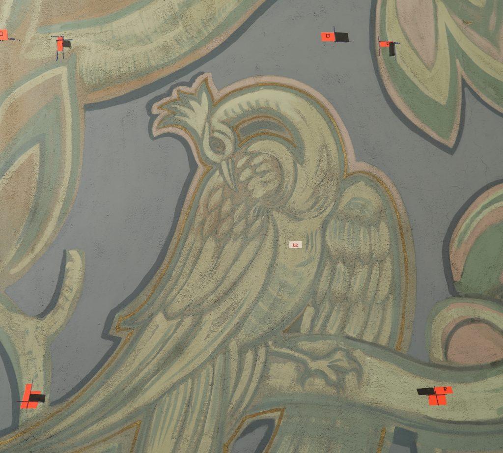 mural detail before restoration