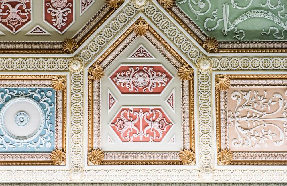 ornamental and decorative plaster after restoration