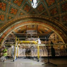 plaster restoration at the Fisher Building