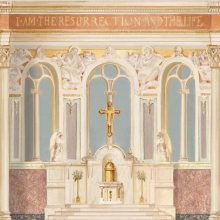 original mural before restoration at St. Patrick Cathedral