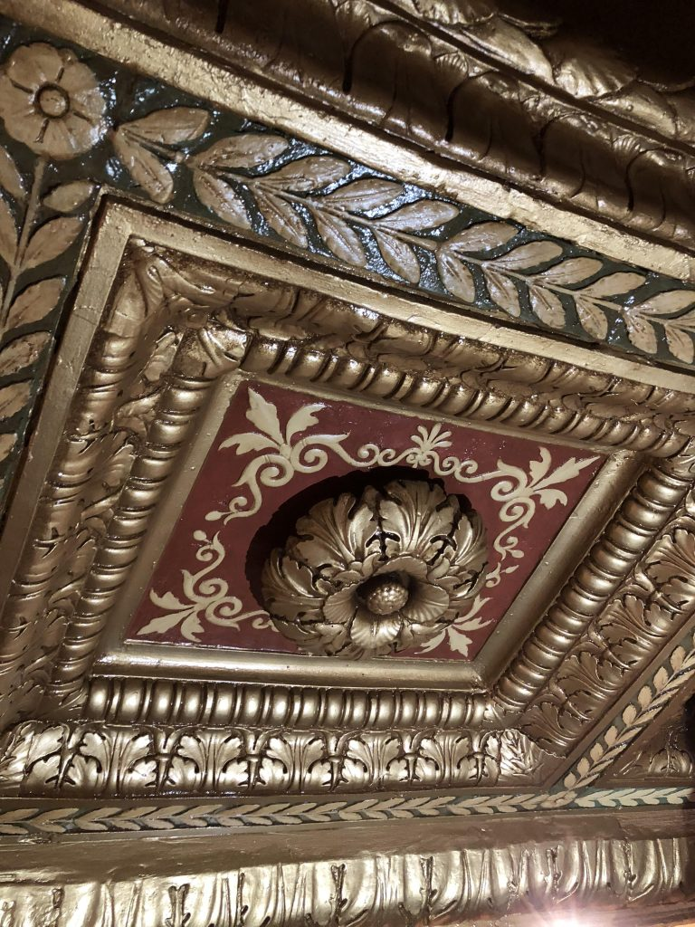plaster dome ornament after restoration