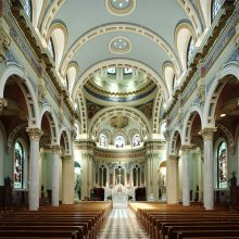 St. Patrick Cathedral after historic restoration and plaster conservation
