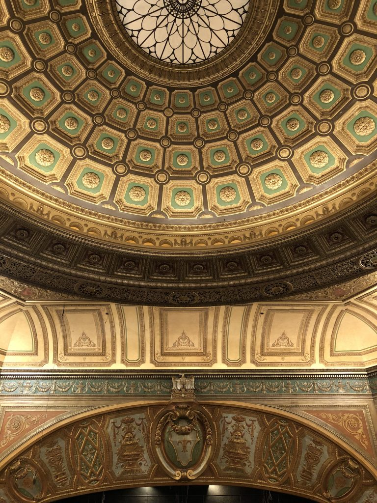 theatre dome after plaster and finishes restoration
