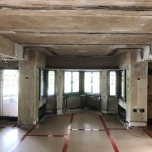 during plaster restoration