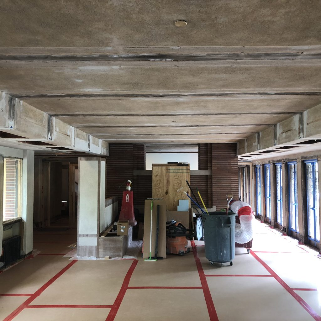 historic Frank Lloyd Wright plaster restoration