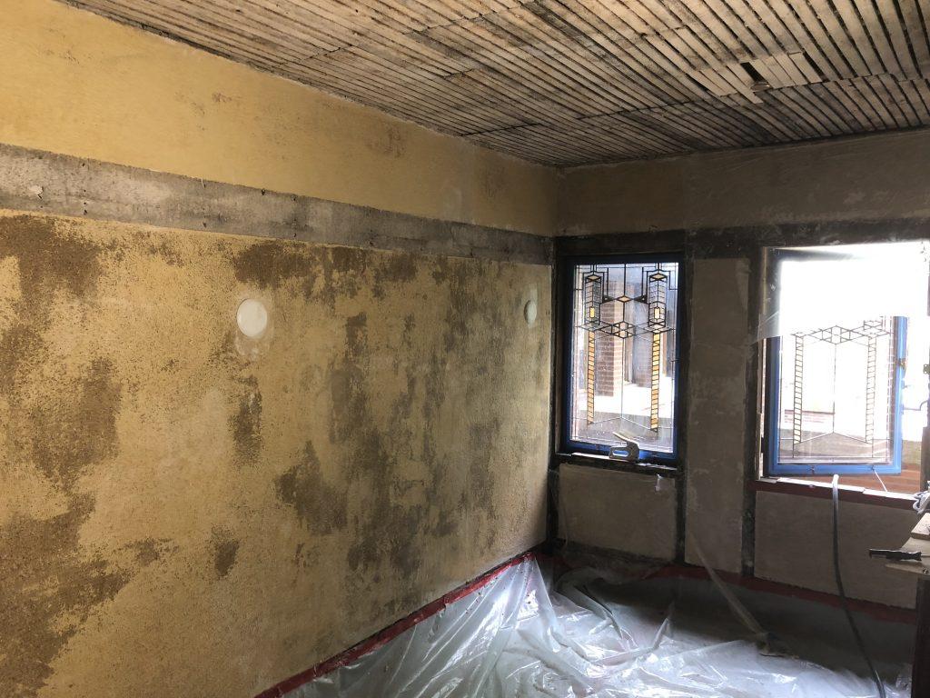 plaster conservation at Frank Lloyd Wright Building