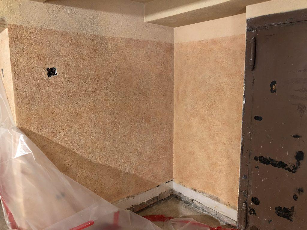 reestablishing original plaster textures