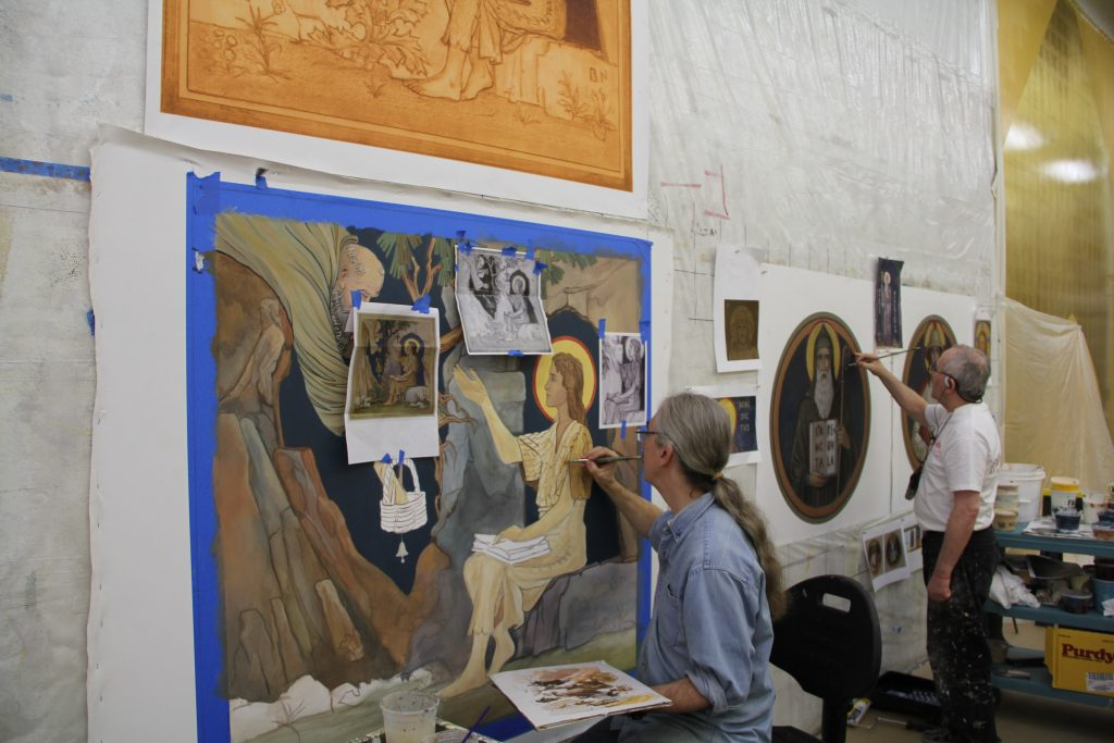 design and painting of historic mural