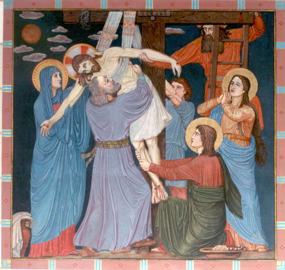 mural at conception abbey after restoration