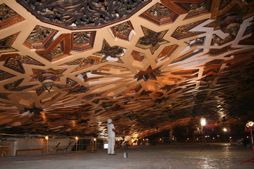 decorative plaster ceiling after restoration