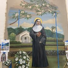 mural design and painting of St. Marianne Cope