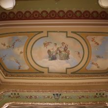 historic ceiling mural after restoration