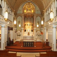 historic plaster restoration at Honolulu cathedral