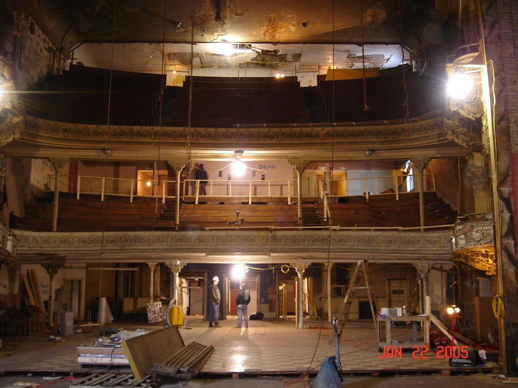 theater during restoration