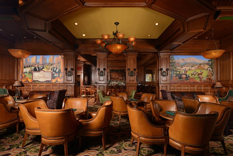 Broadmoor hotel bar with two new murals