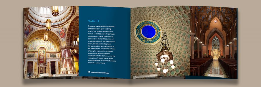 Sacred Spaces Brochure Spread