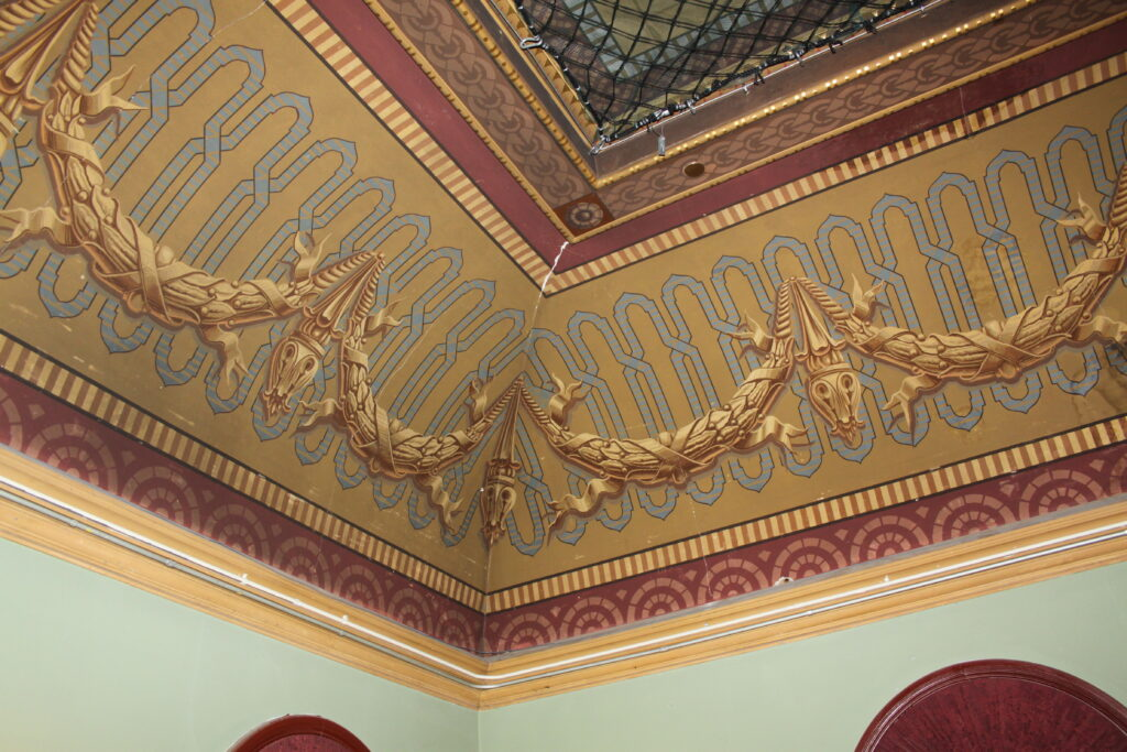 Thomaston Opera House ceiling detail