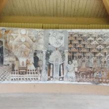 John T. Biggers Christia V. Adair Park Murals located at Harris County Precinct 1