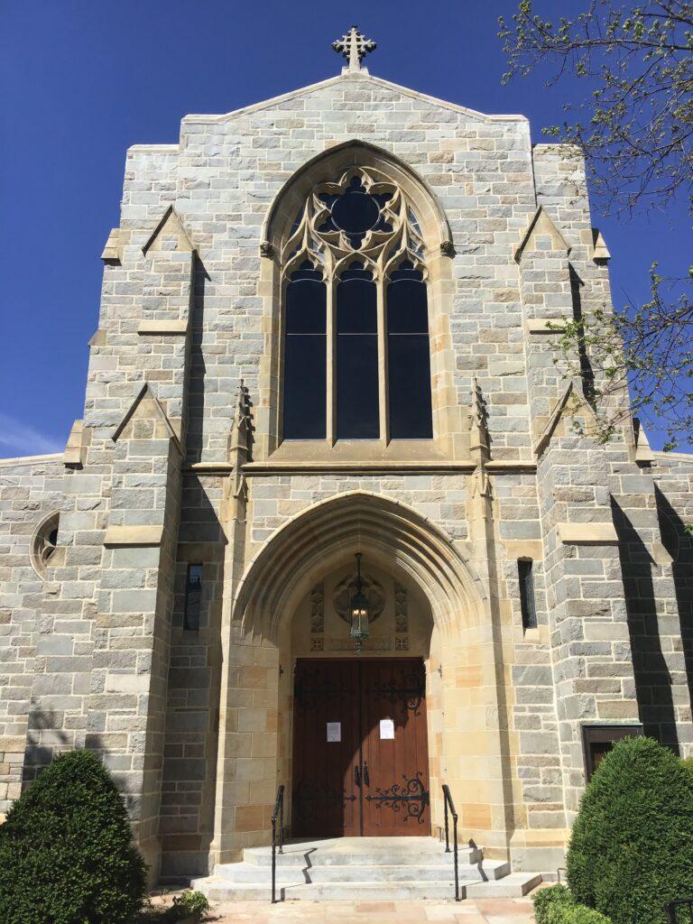Main entrance after restoration. Credit Joseph K. Oppermann Architects.