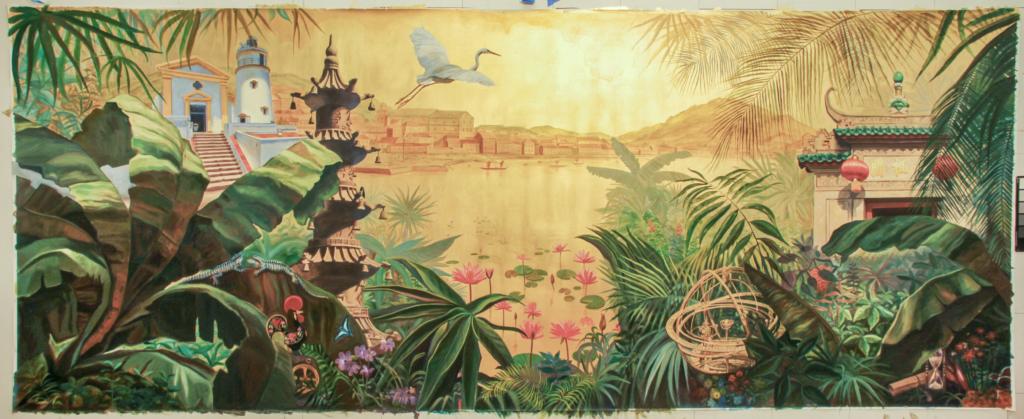 Bar Mural at the St. Regis Hotel in Macau, China