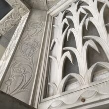 Decorative details on wall