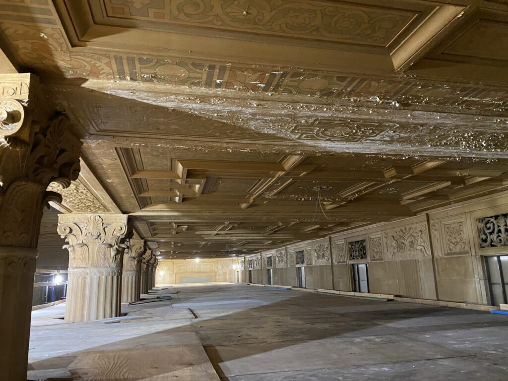 Ceiling and Hall reconstruction