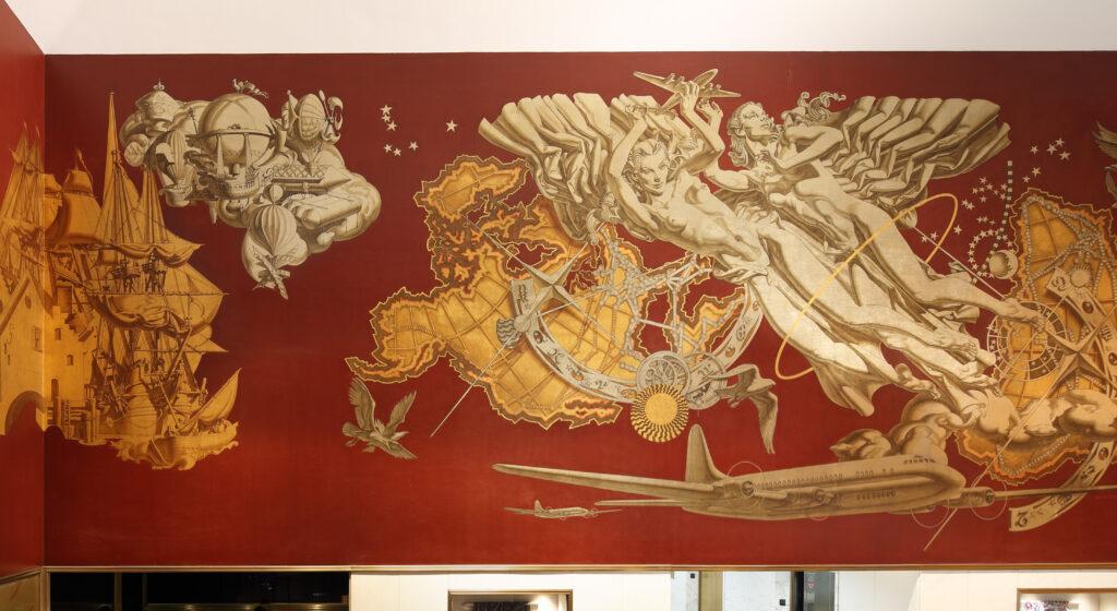 10 Rockefeller Center Dean Cornwell mural