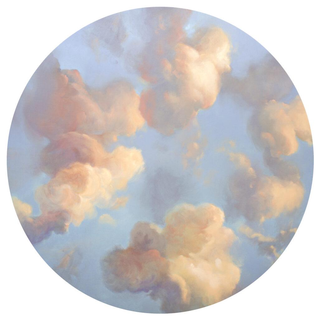 Sky Mural Roundel 2 Mockup - Private Dining Club